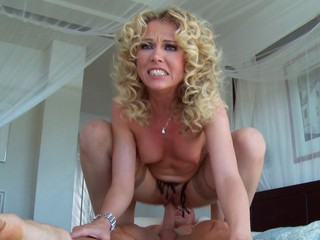 Curly blonde is fucking her neighbor