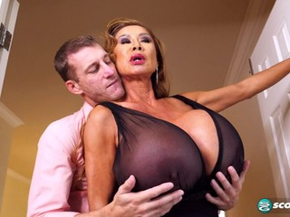 MILF with huge tits has sex