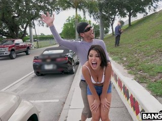 Adriana Chechik is a wild and horny chick. This week, we called her up to have some public fun