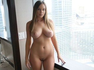 Big-boobed hottie in stockings Alexis Adams rides a big dick