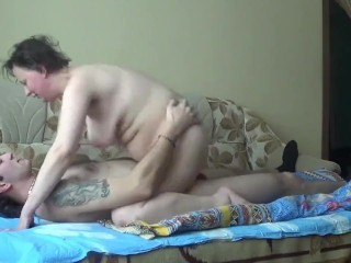 Russian mature mom fuck with young boy