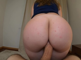 TEASING HIM SLOWLY WITH MY ROUND BOOTY UNTIL CREAMPIE