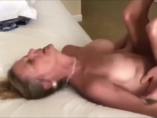 Crazy MILF having a real orgasm with her new roommate